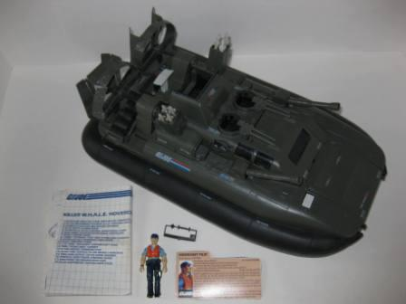 Killer W.H.A.L.E. Hovercraft w/ Inst, Pilot, Card - G.I. Joe